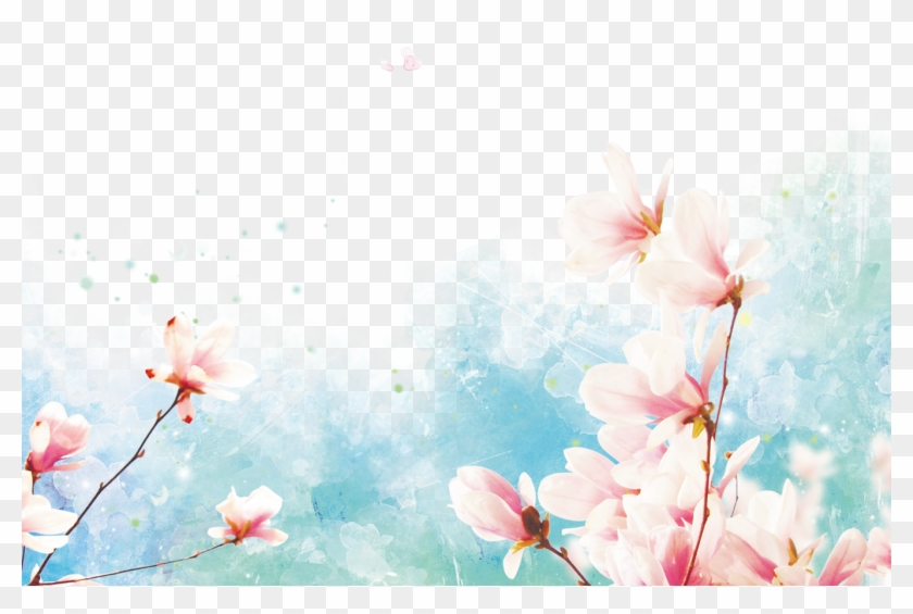 Pink Watercolor Flower Border Pngpng - Backgrounds Rosa Flores Clipart #1584473