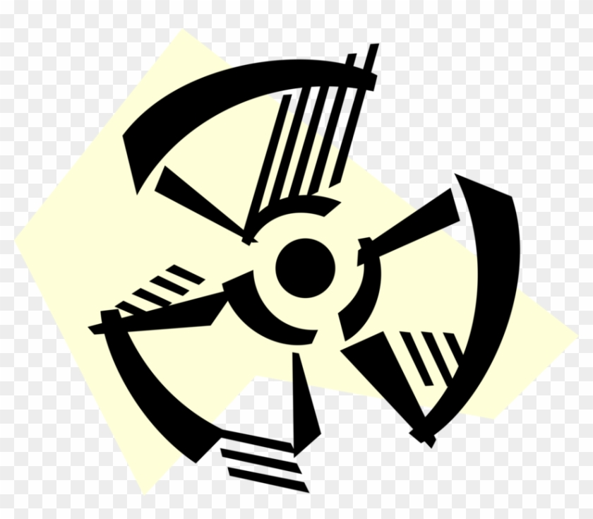 Nuclear Energy Radiation Image Illustration Of Fallout - Radioactive Symbol Clipart #1593268
