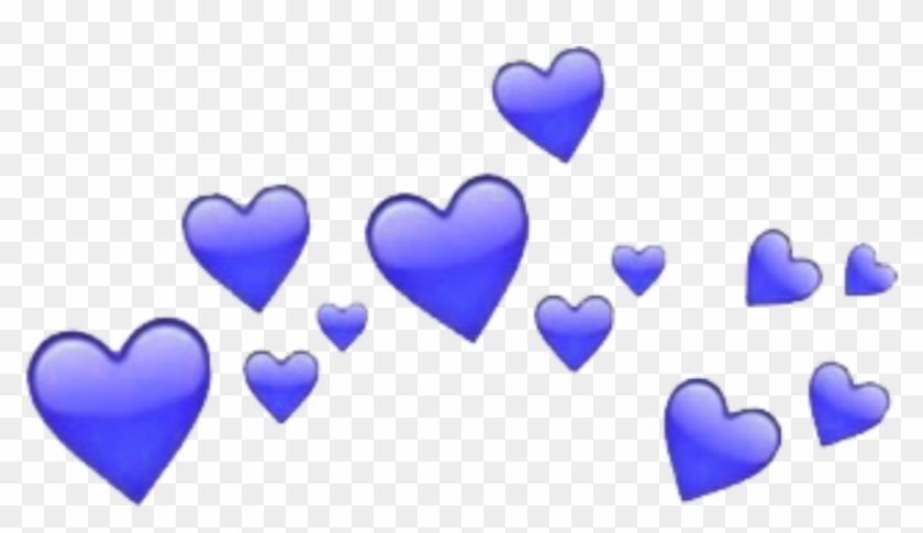 #blue #hearts #heart #crowns #heartcrown #tumblr #freetoedit - Heart Emoji Meme Template Clipart #1598302