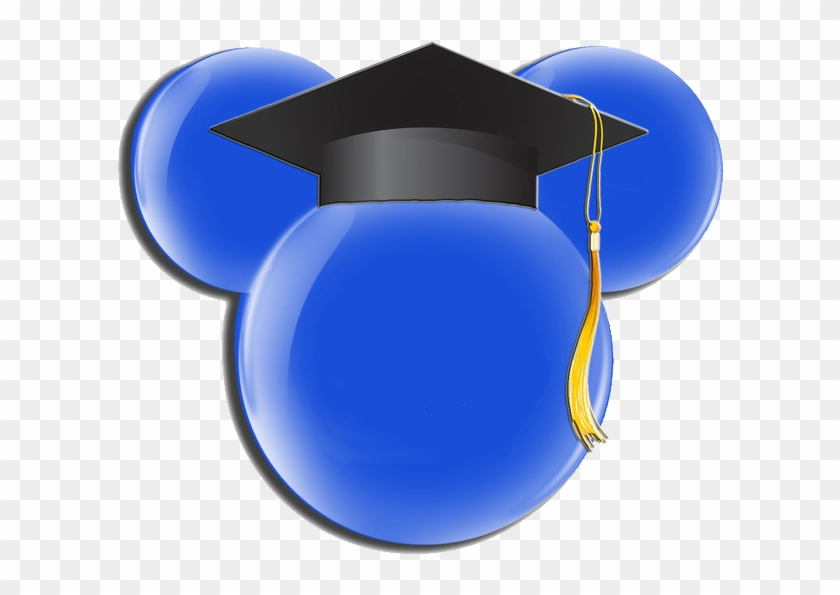 Free Mickey Mouse Ears Silhouette Download Free Clip - Graduation Minnie Mouse Head - Png Download #163812