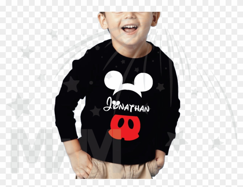 Mickey Ears Png - Toddler Black Tshirt Clipart #164575