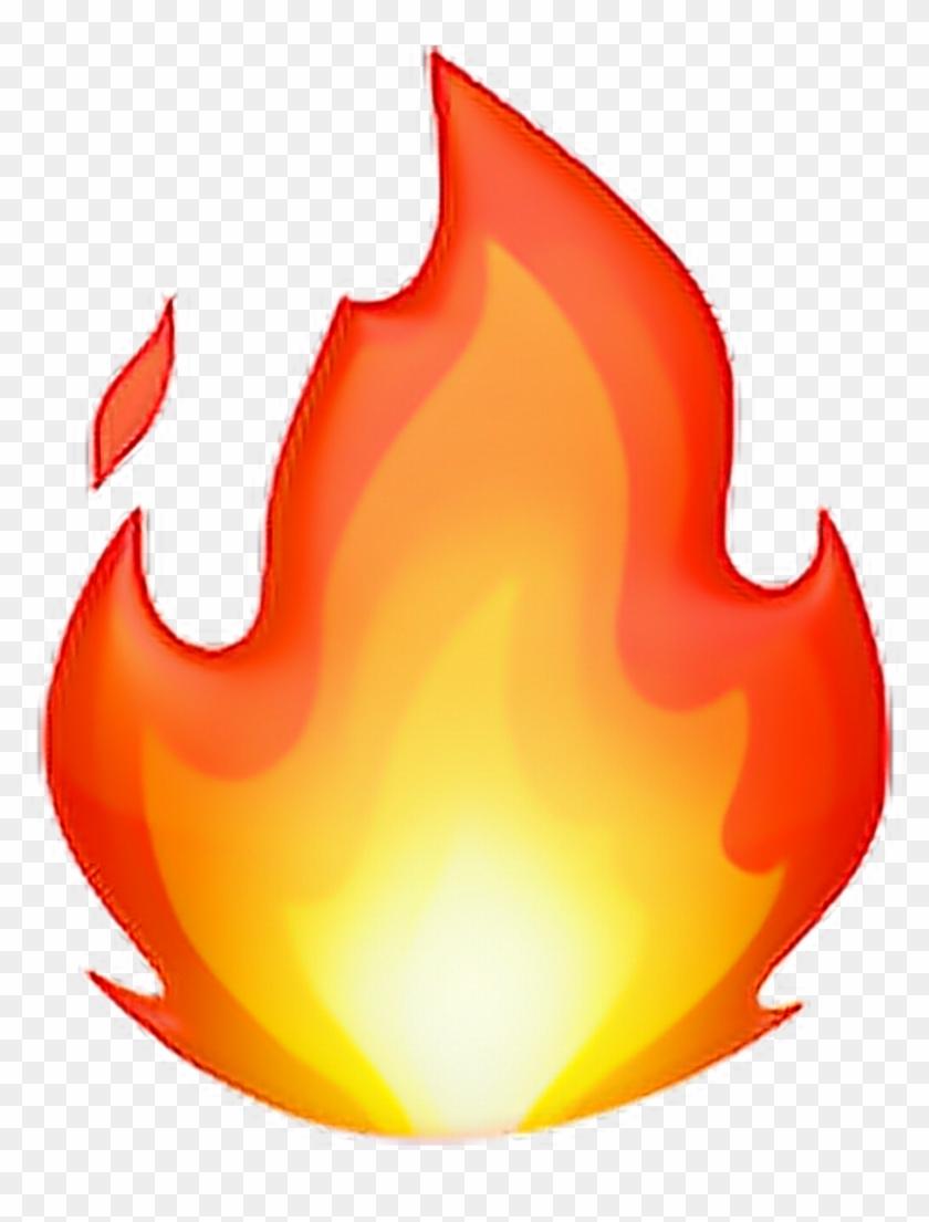 •fire Emoji 🔥 Fire Flame Emoji Emoticon Iphone Iphonee - Fire Emoji Ios 11 Clipart #169195