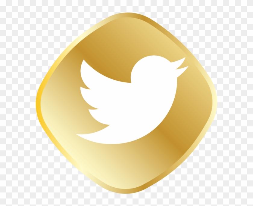 Gold Twitter Logo - Aplicaciones Twitter Clipart #169780