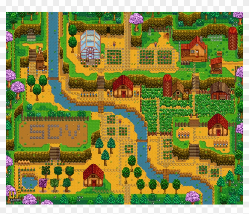 Here S My Hilltop Farm Plans Stardew Valley Hilltop Farm Clipart 1602453 Pikpng