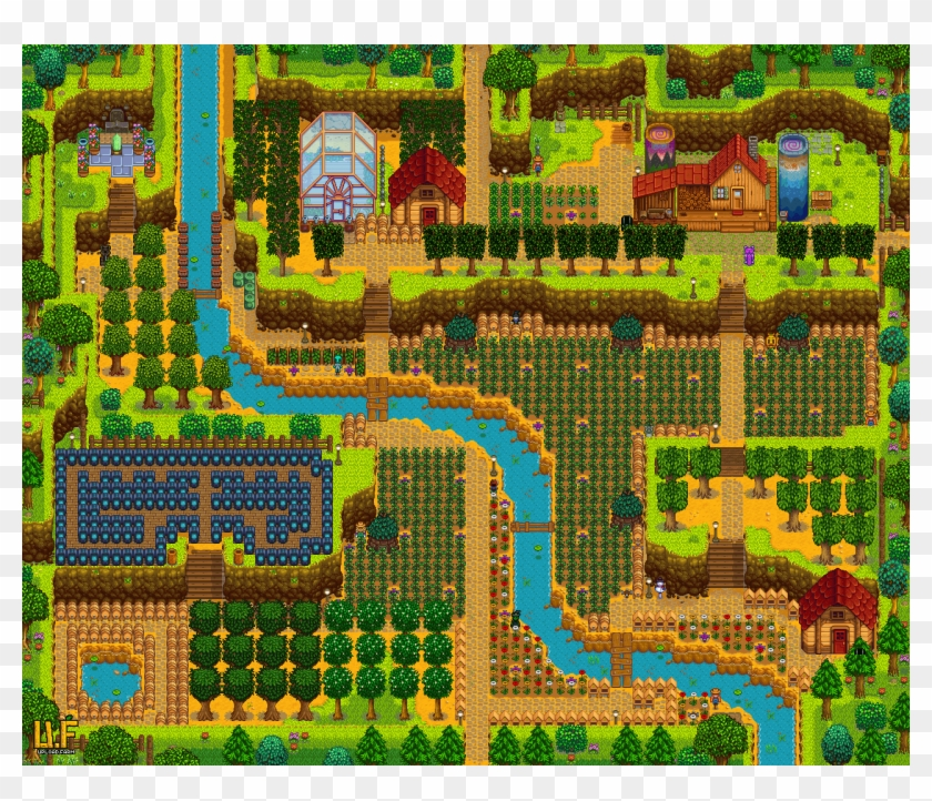 I Think My Farm Might Be Finished Summer Year 3 Stardewvalley Hill Top Farm Stardew Valley Clipart 1602854 Pikpng