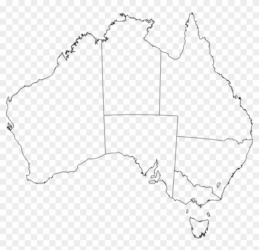 Just Arrived Australia Flag Outline Of Blank Map Clip ...