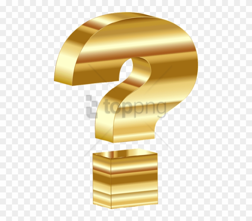 Free Png 3d Question Mark Png Png Image With Transparent - Question Mark Gold Png Clipart #1603698