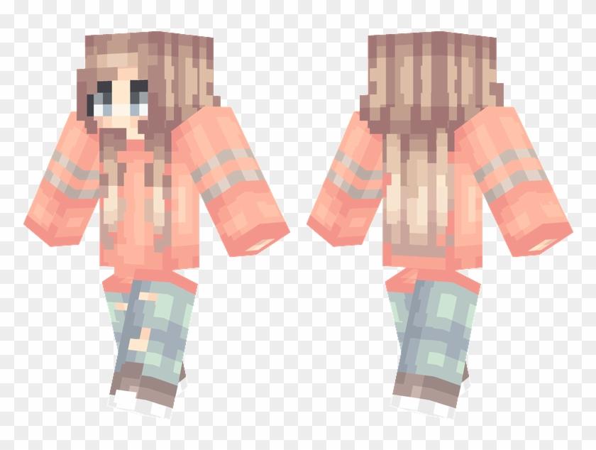 Pink Shirt - Minecraft Girls Skin Pink Nova Clipart #1607015