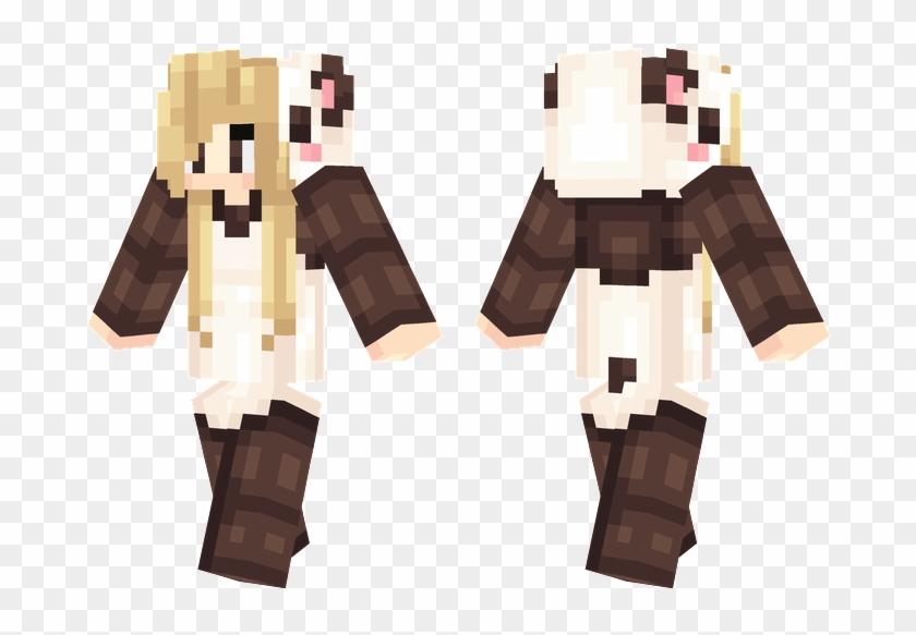 Panda Onesie Minecraft Skins Onesie, Minecraft Skins - Minecraft Panda Onesie Skin Girl Clipart #1607289