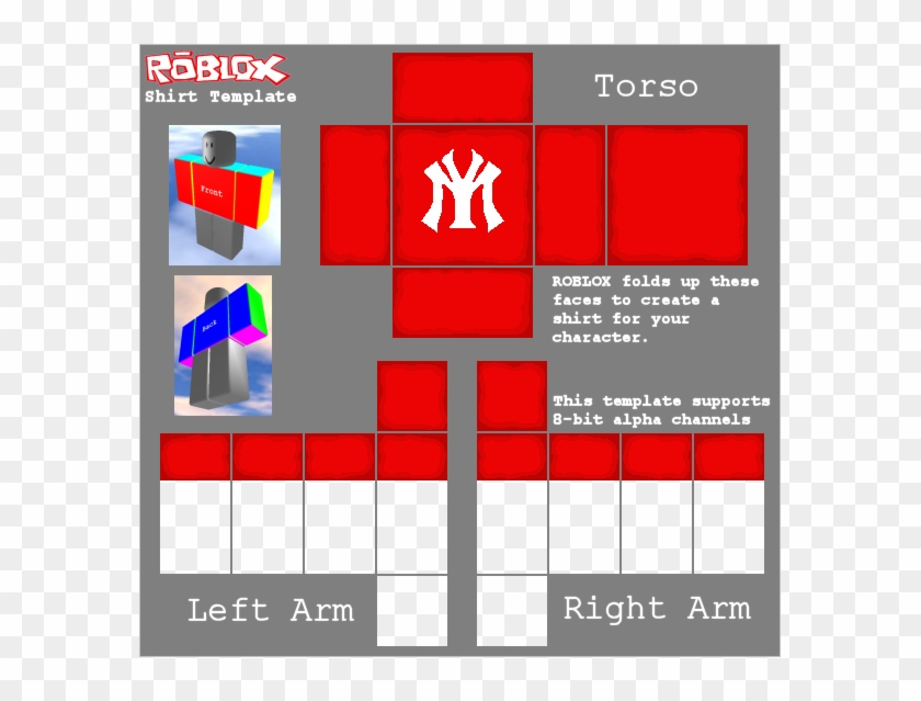 One Of My Favorite Shirts - Red Roblox Shirt Template Clipart@pikpng.com