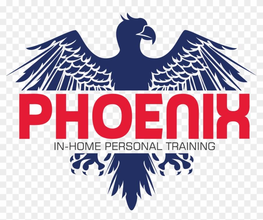 The Phoenix Personal Training - Eagle Heraldic Vector Clipart #1613479