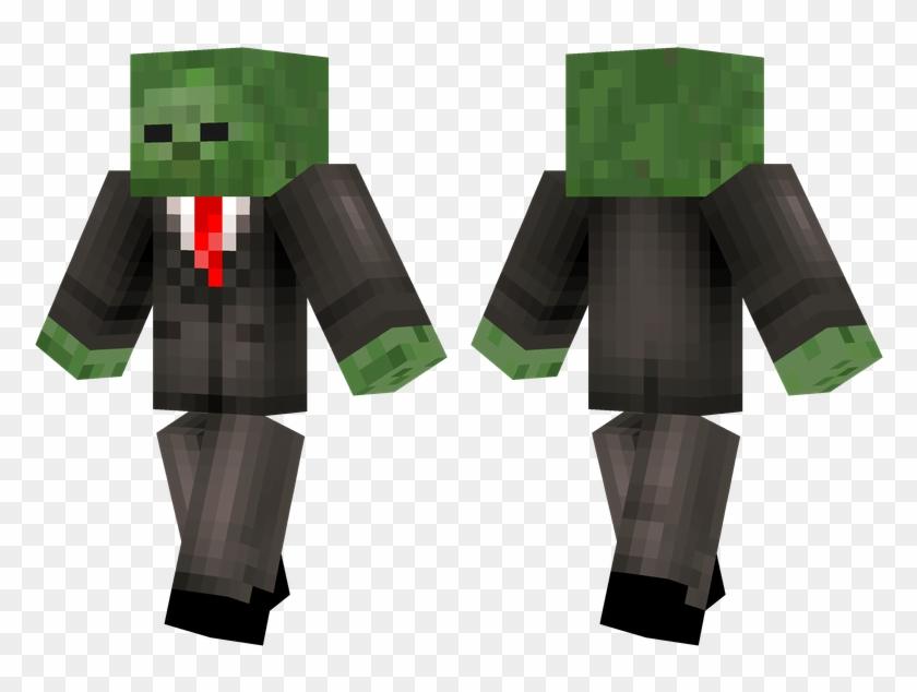 Minecraft Zombie Png - Minecraft Pe Policeman Skin Clipart #1616894