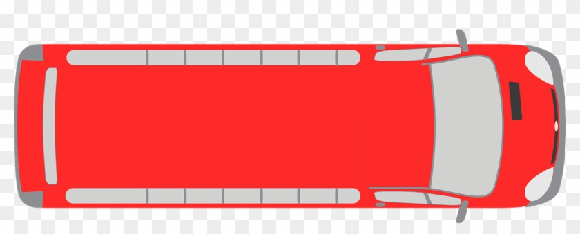 960 X 480 3 - Bus Top View Vector Clipart #1629649