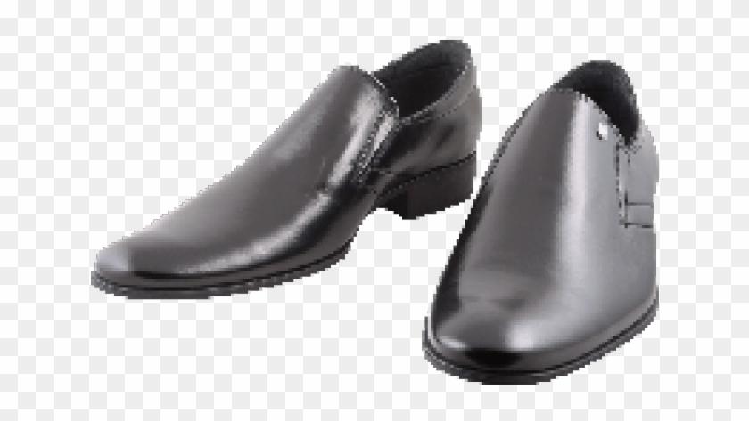Men Shoes Clipart Chappal - Black Shoes Transparent Background - Png Download #1630860
