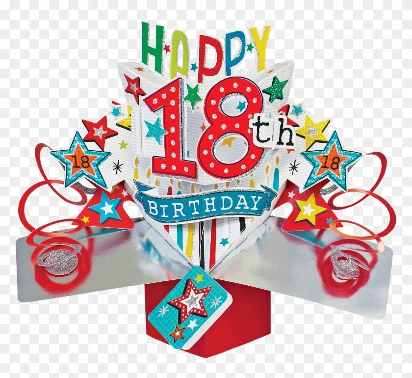 Sentinel Happy 18th Birthday Pop-up Greeting Card Original - Free Happy 18th Birthday Clipart #1632089