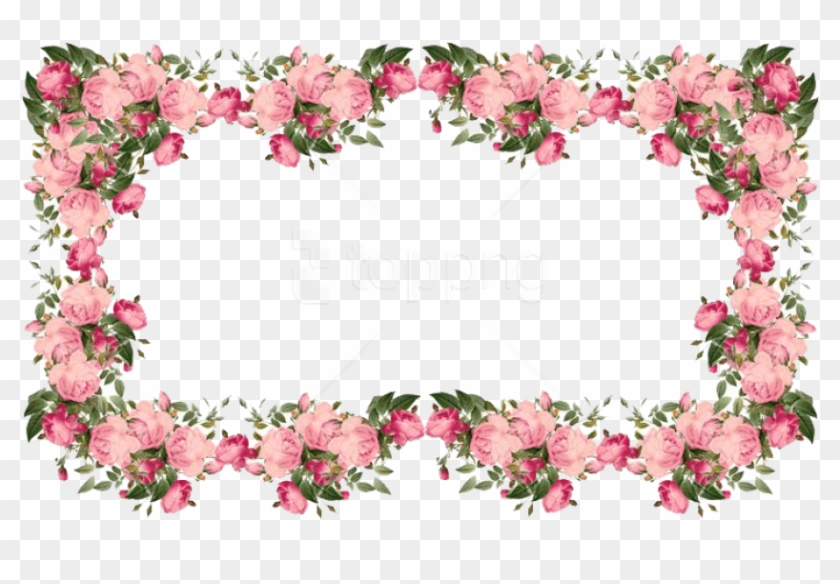 Free Png Flowers Borders Transparent Png - Vintage Flower Borders Png Clipart #1632566