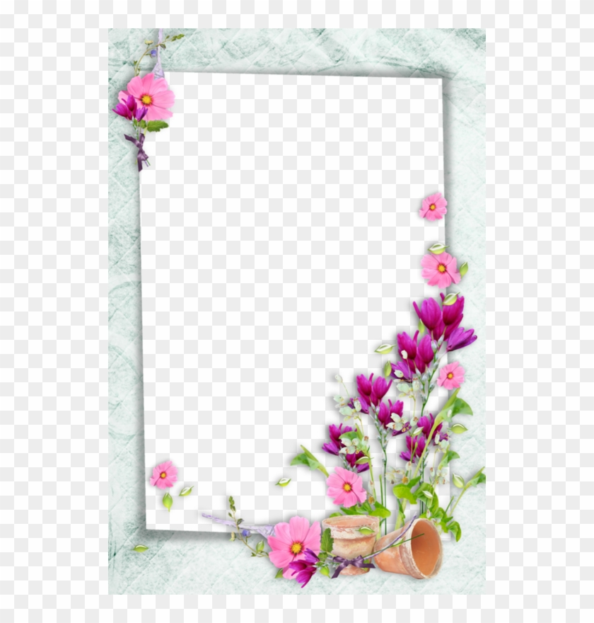 Bible Study Notebook, Printable Frames, Borders And - Pink Flower Border Design Clipart #1632749