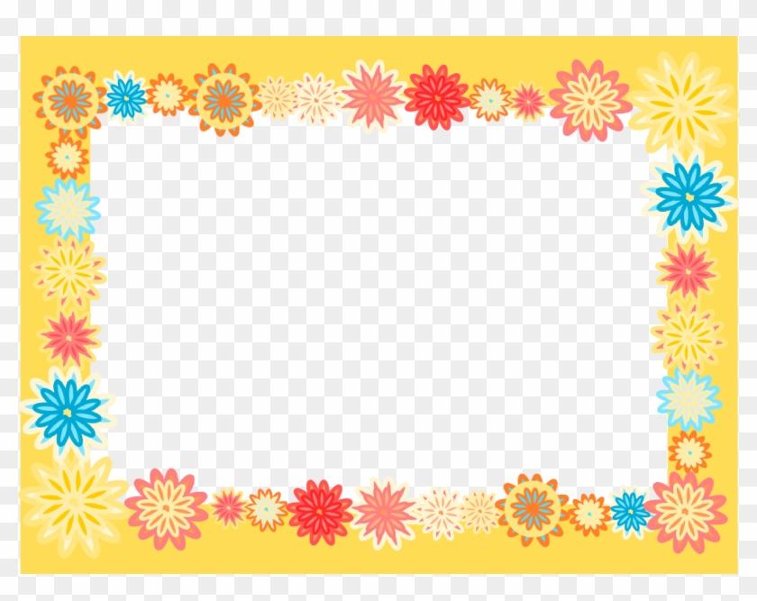 Flower Border Photo Ppt Backgrounds - Kids Border Png Clipart #1633763