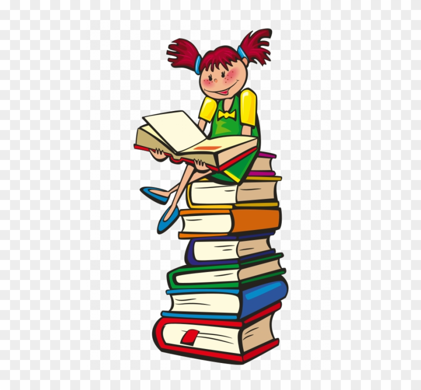 Girl Reading Hello And Welcome Livre Enfant Clipart Png Download 1634082 Pikpng
