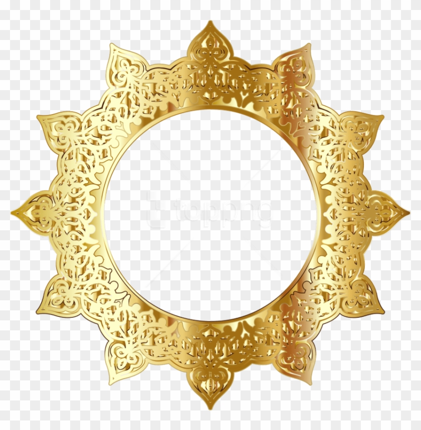 Free Png Golden Round Frame Png - Round Gold Frame Png Clipart #1634091