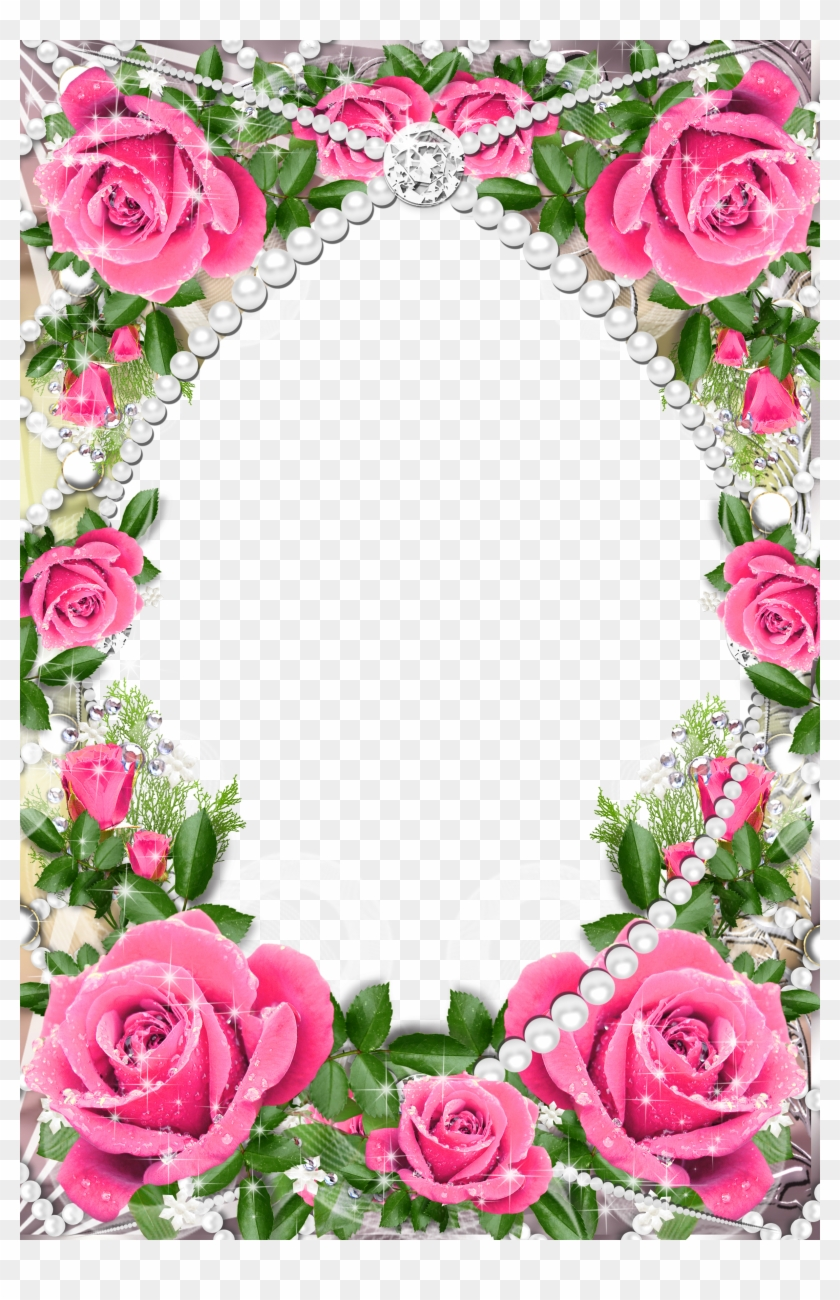 Pink Rose Photo Frame Clipart #1634681