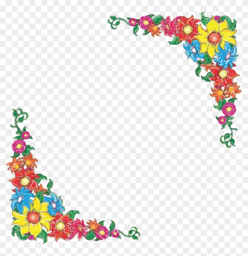 Mexican Flower Border Clip Art - Png Download #1635371