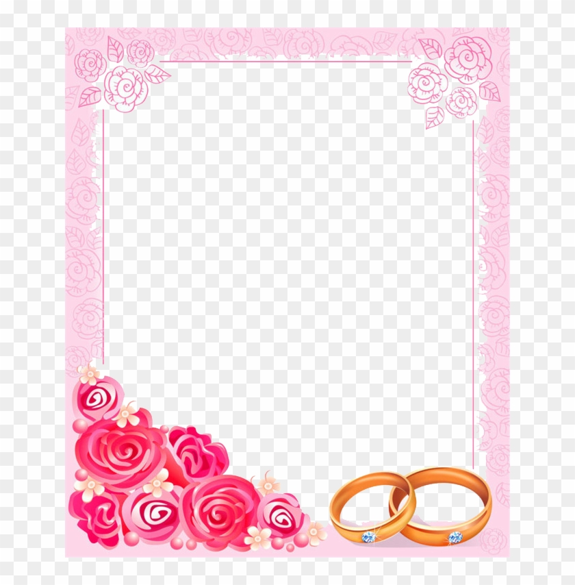 650 X 774 3 - Wedding Border Pink Png Clipart #1635660