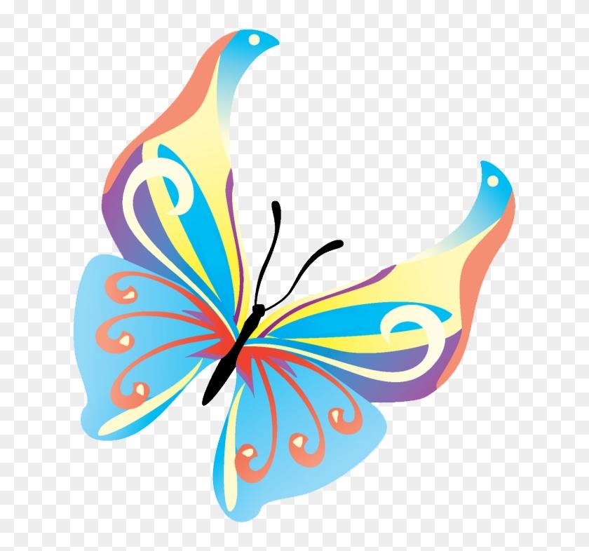 Butterflies Vector Transparent Background Png Mart - Vector Colorful Butterflies Png Clipart #1636213