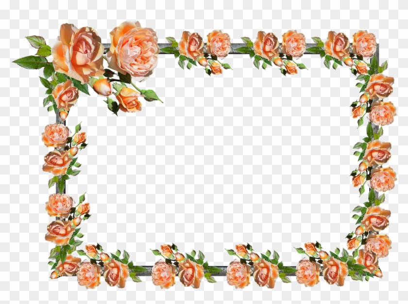 Pictures, Free Photos, - Rose Frame Border, HD Png Download #1636501