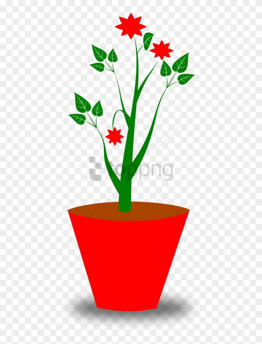 Free Png Download Transparent Flower Pot Png Images - Gambar Pot Dan Bunga Clipart #1647140