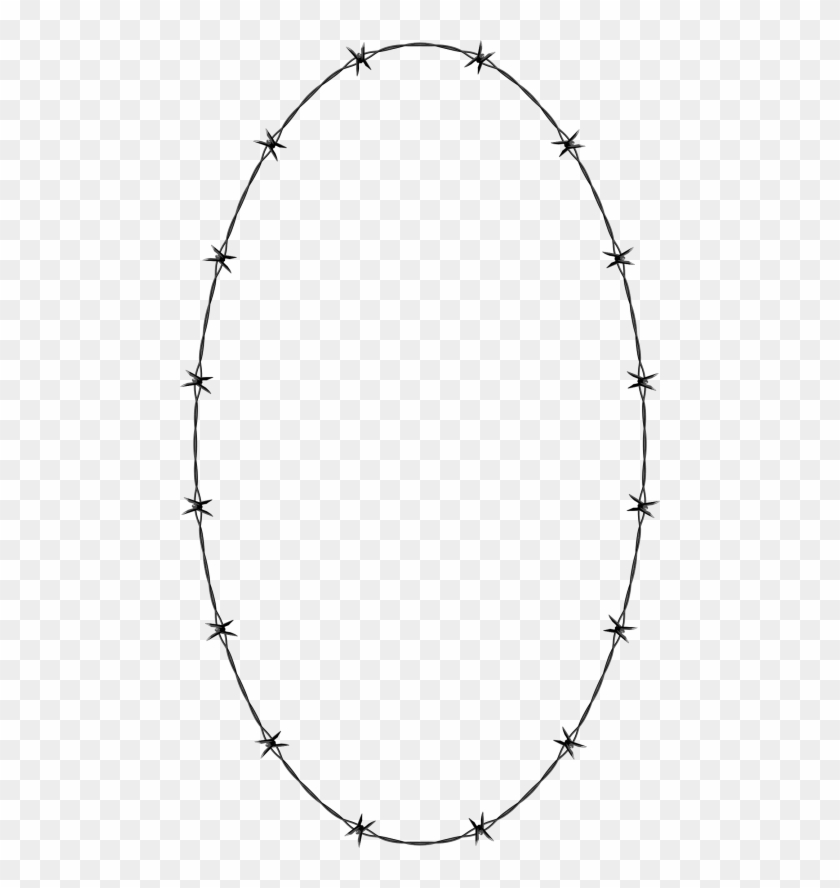 Barbwire Png Free Download Barbed Wire Oval Border Clipart 1648593 Pikpng