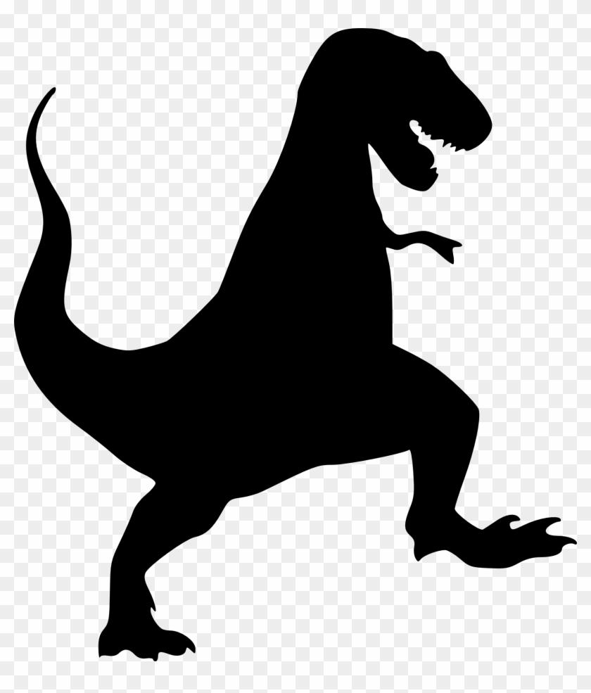 Dinosaur Outline, Dinosaur Stencil, Dinosaur Silhouette, - T Rex Black Clipart@pikpng.com