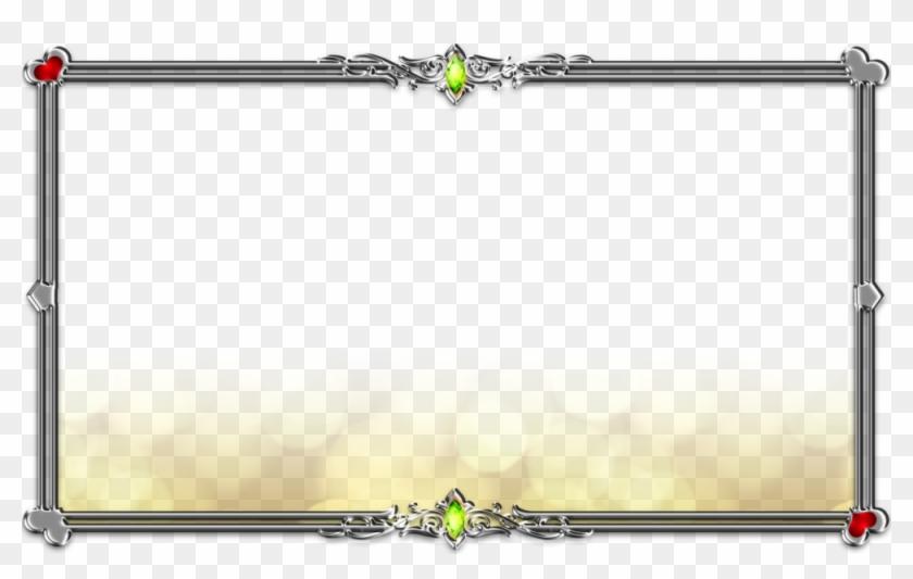 Silver Frame - Golden Frame Border Png Clipart #1654445