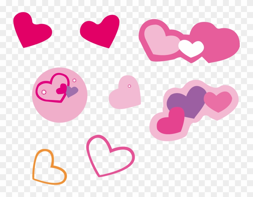 Clip Art Black And White Library Pink Cute Heart Shaped - Love Pink Vector Png Transparent Png #1656995