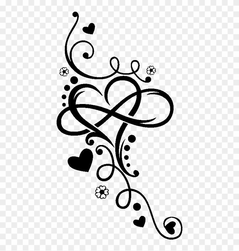 Heart Infinity Tattoo Henna T-shirt Arabesque Motif ...
