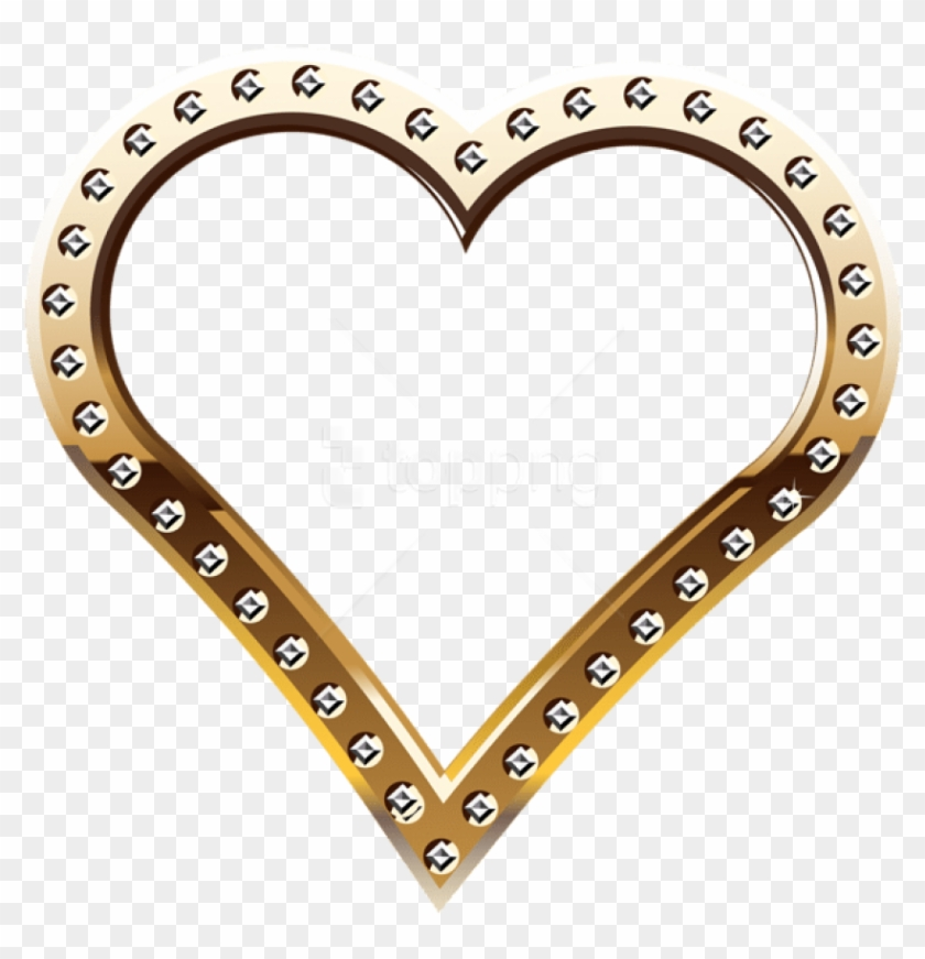 Free Png Download Heart Border Gold Clipart Png Photo - Gold Heart Border Png Transparent Png #1660313
