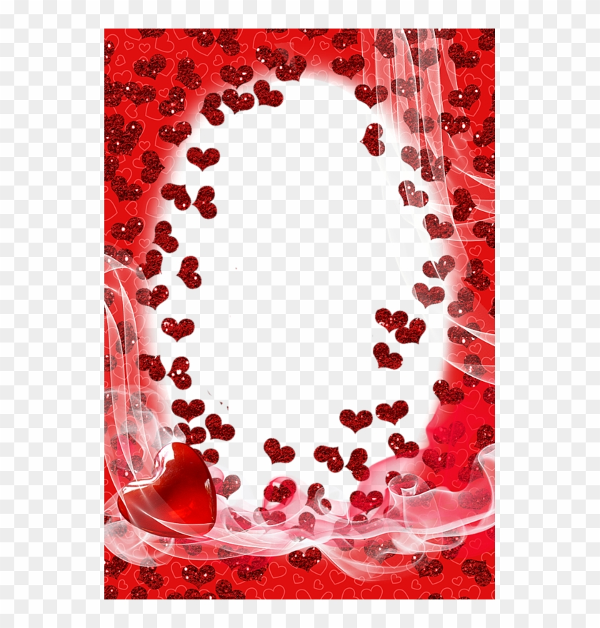 Borders And Frames, Page Borders, Borders For Paper, - Birthday Heart Frame Png Clipart #1660448