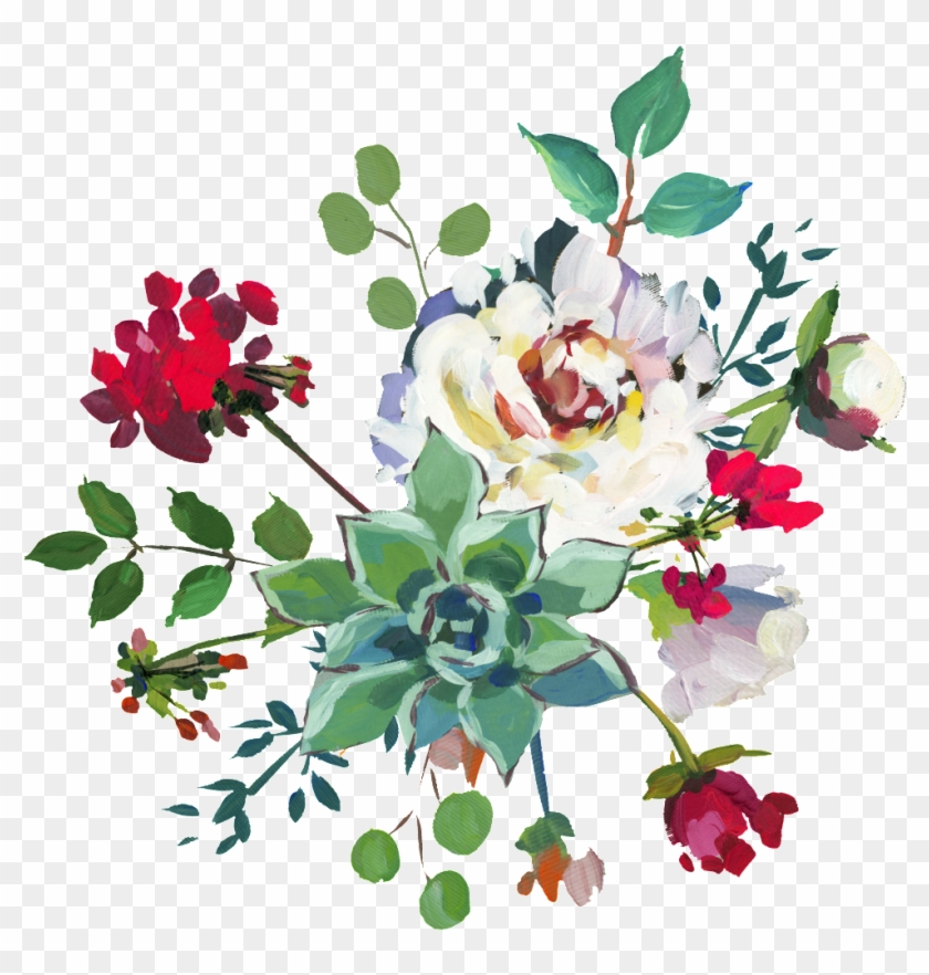 Hand Painted White Peony Flower Png Transparent This - Bouquet Clipart #1662091