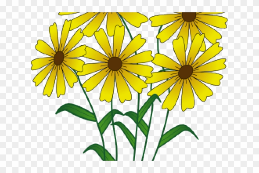 Yellow Flower Clipart Spring Flower - Simple Drawn Flower Outlines - Png Download #1662176