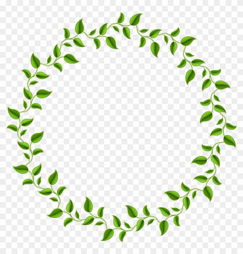 Decorative Leaf Png Photos - Leaves Circle Border Png Clipart #1662737