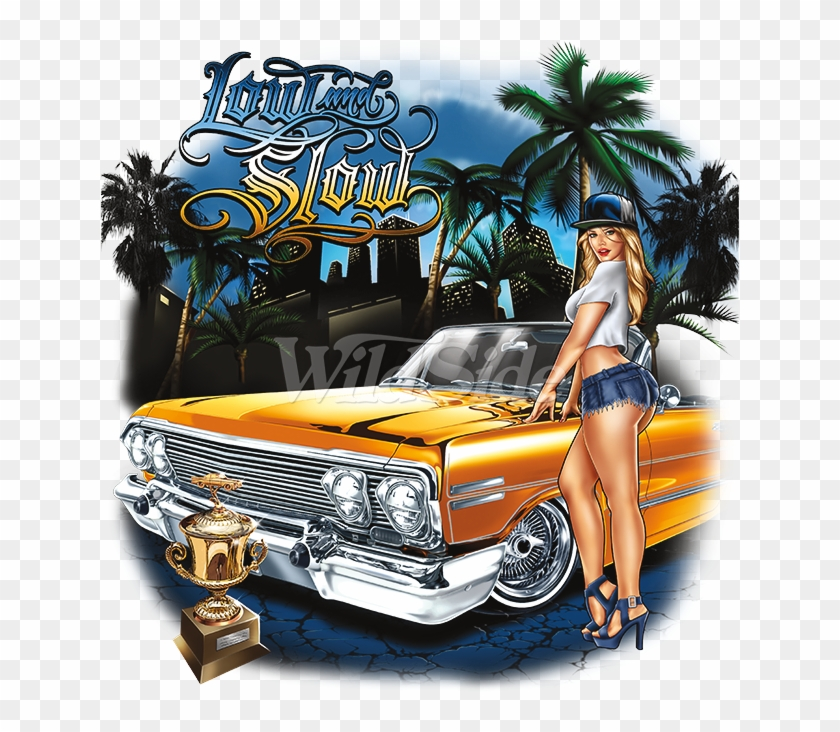 Low And Slow Lowrider Art - Muscle Car Clipart #1664515