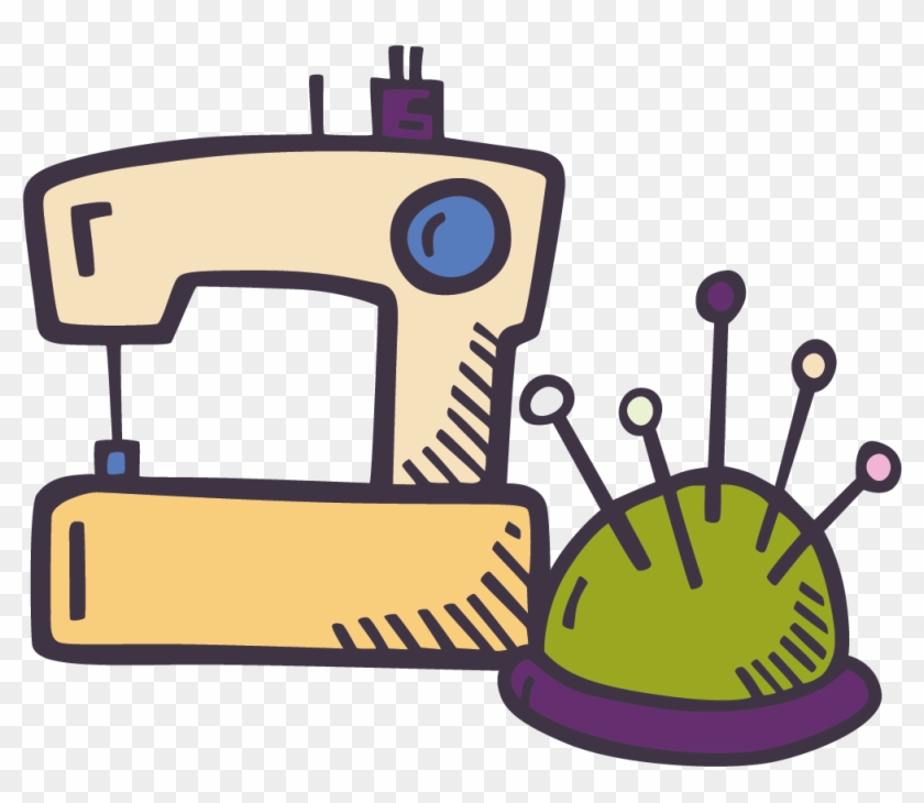 Sewing Machine Doodle , Png Download - Sewing Machine Doodle Png Clipart #1670268