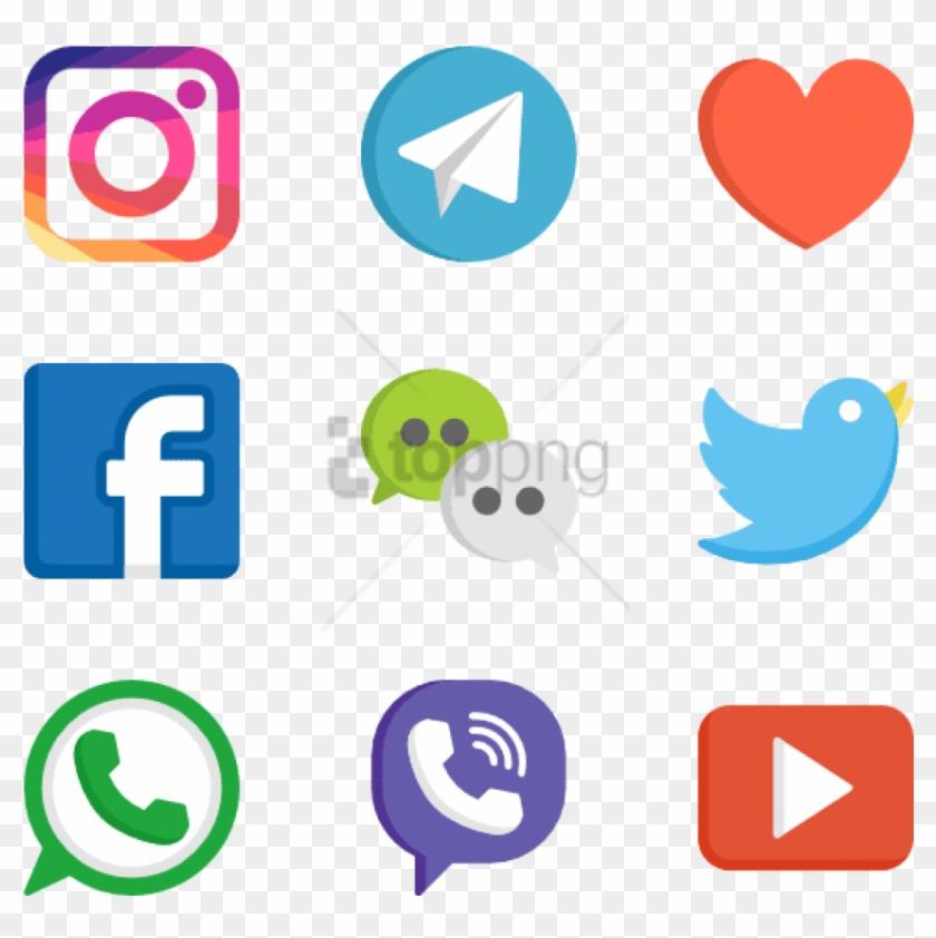 Free Png Social Media Logos Web Design 50 Free Icons Clipart #1676506
