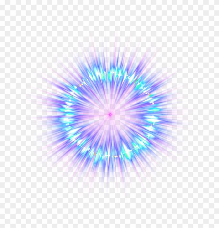 Blue Destello Picsart Light Sticker Fireworks Effect - Light Effect With Picsart Clipart #1678407