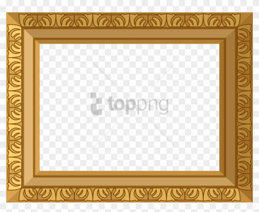 Free Png Freegolden Frame Png Image With Transparent - Gold Picture Frame Border Clipart #1682464