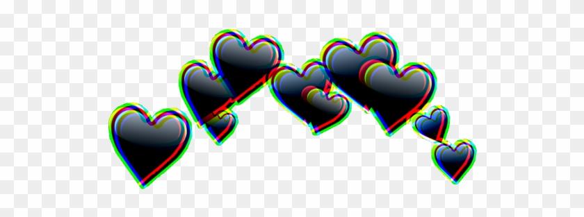 #glitch #heart #crowns #crown #heartcroen #heart #tumblr - Picsart Heart Crown Png Clipart #1688395