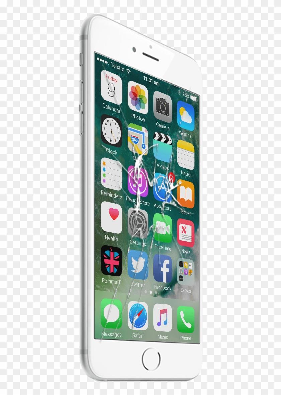 An Iphone 6 With Smashed Screen - Apple Iphone 7 Plus Silikon Kılıf Sis Mavisi Clipart #1688513