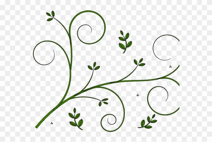 Boho Clipart Vine - Flower Border Design Simple - Png Download #1688544