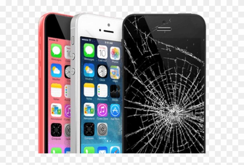 Free Png Download Series Of Iphones Broken Screen Png - Iphone 5 5s 5c Cracked Screen Clipart #1690841