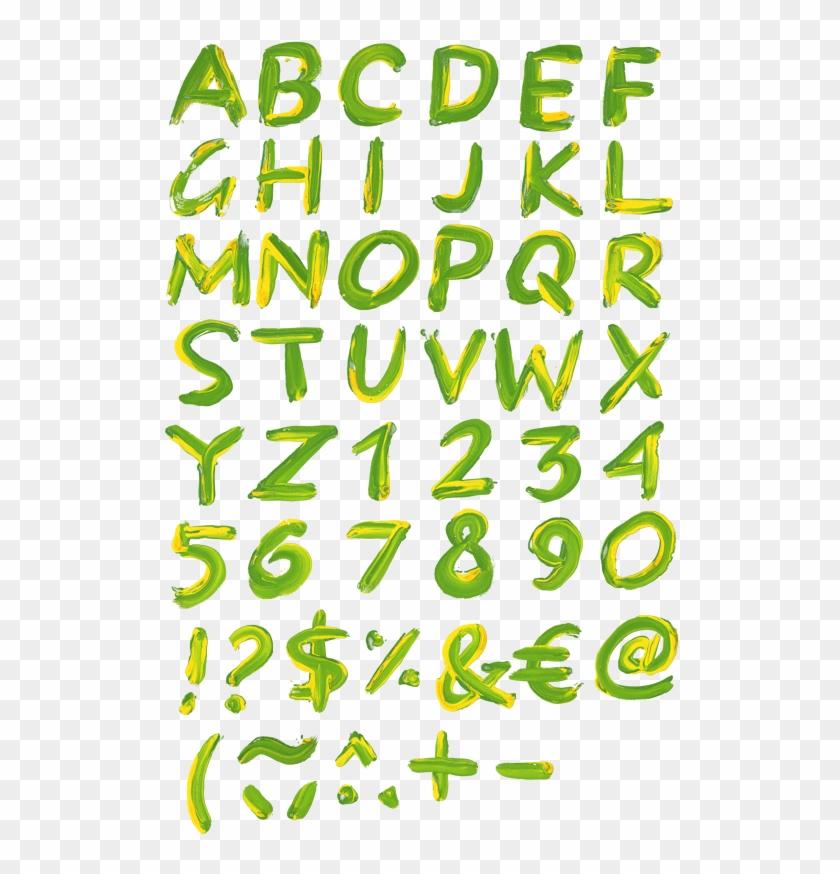 Paint A Transparent Letter Font - Calligraphy Clipart #1694020